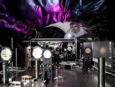 An optical engineer at NASA's Jet Propulsion Laboratory